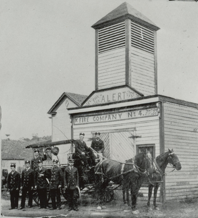 Firehouse 4 1892 - 1903. Firehouse 4 was built for the Alert Fire Company No. 4. The Alerts were a volunteer fire company organized to protect the Virginia Brewery and the newly expanding Southeast quadrant of the City. The firehouse was located at 1219 Wise Avenue SE.