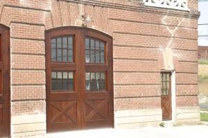 New mahogany doors.