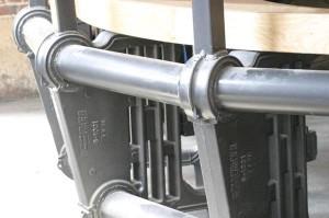 Close up of the boiler/desk.