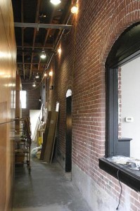 A view down the new hallway. Similar view to looking around the front of Engine 3 back in the day.