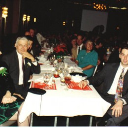 Chris Brown with his mother and father at a Union Banquet.