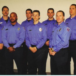 L-R Kevin Weeks, Tim Drew, Maurice Nicholson, Tracy Blevins, Dean Russell, Chris Brown, Kieth Holt, Robert Humphreys. Recruit School Photo in 1995.