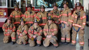 Station 1 C-Shift. Captain Brown is on the right. Photo from Station 1 Blog