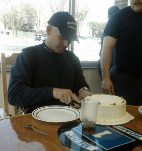 Chris Brown on his birthday as celebrated at Station 1. Photo from Station 1 Blog