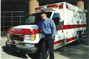 Chris Brown posing in front of Medic 6. Photo from Marci Stone
