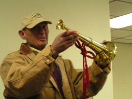 Retirement Dinner: The bugle bought for Billy by firefighters