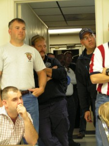 Retirement Dinner: Firefighters were packed out the door for the dinner