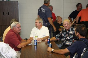 """Some of the """"old"""" guys! Carl Epperly, Ed Watts (behind Epperly), Big Daddy Sullivan, Chief Patton, and the oldest one Willie Wines Jr. Willie is no doubt telling those guys about """"Back in the Day""""!"""