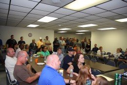 There was a crowd at the Union Hall for Slaytons Party!