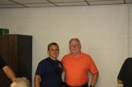 Rhett Fleitz and Chief Bobby Slayton